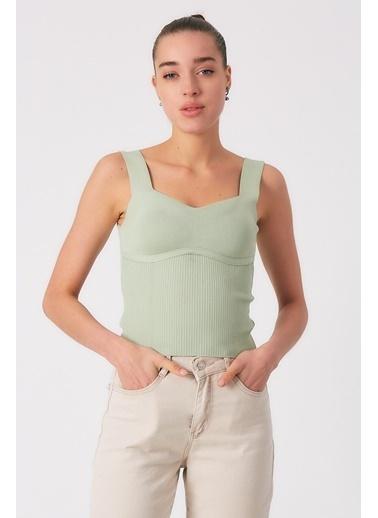 Robin Kalın Askılı Body Mint Yeşil